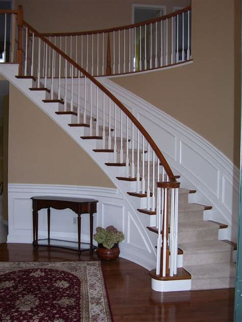 wainscotting stairs wainscoting along curved stairs wainscotting design