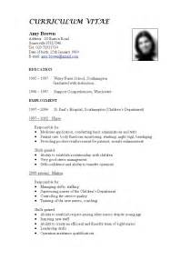 best cv format for seekers
