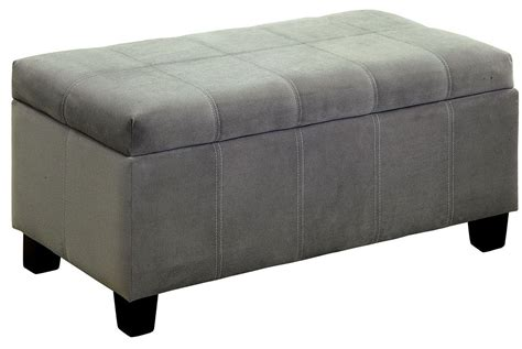 Gray Pouf Ottoman Remi Gray Ottoman From Furniture Of America Coleman Furniture