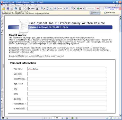toolkit template free employment toolkit resume templates