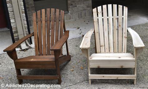 how to stain adirondack chairs patio progress my 36 adirondack chairs addicted 2