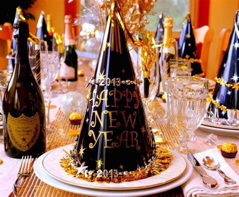 new year s eve table setting