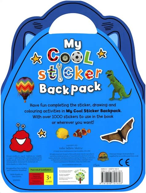 my cool my cool sticker backpack scholastic kids club