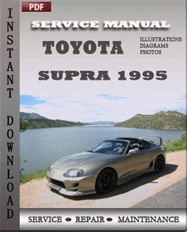 toyota supra 1995 service manual download repair service manual pdf