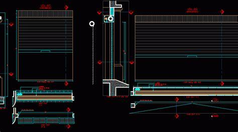 rollup door curtain dwg detail  autocad designs cad