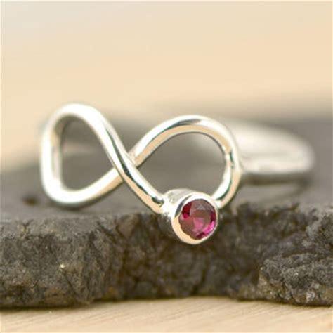 shop infinity birthstone ring on wanelo