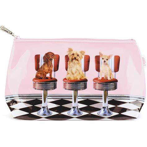 pug dogs diner catseye diner dogs wash bag plushpaws co uk