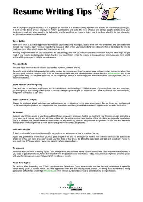 Resume Writting by Resume Writing Tips Psychology Since It Is My Major I