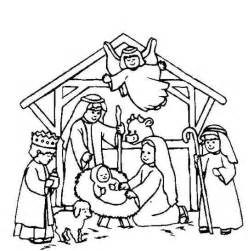 nativity scenes nativity coloring pages