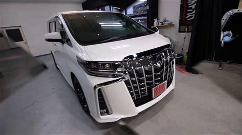 bug sc 3 2018 ガラスコーティング大阪 スピード関西 2018新型トヨタアルファード ホワイトパールクリスタルシャイン施工