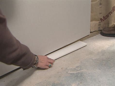 1 drywall floor gap installation how much gap to leave between basement