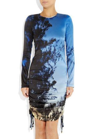 Silk Printed Silk Dress Intl alert net a porter end of season sale what s up to