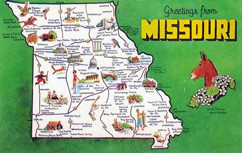 tourist map of united states of america large tourist map missouri state missouri state usa