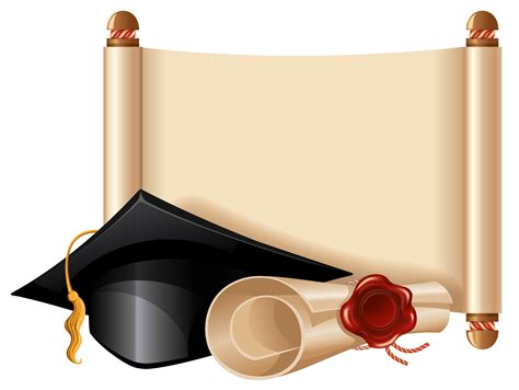 diploma clipart diploma and graduation cap png clipart picture scrolly