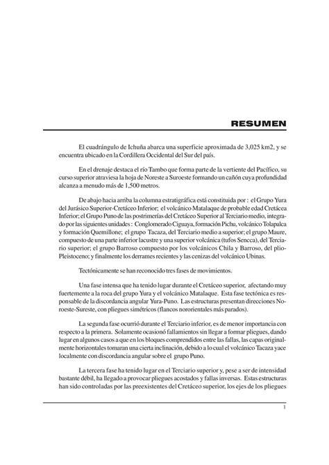 Calaméo - Geología - Cuadrangulo de Ichuña (33u),1966