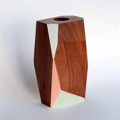 Geometric Vase by Geometric Wooden Vase Felt