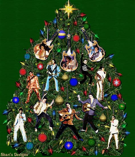 elvis christmas tree animated christmas fan art 9437855