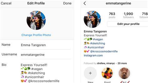 celebrity bios on instagram instagram to allow hashtags profile links in user bios