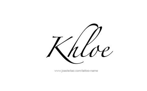 khloe tattoo khloe name designs