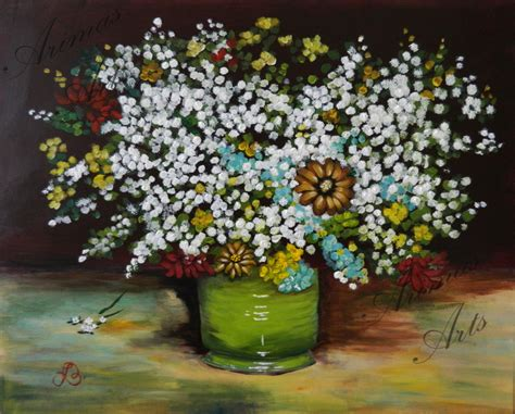 Gogh Vase With Flowers by Gogh Green Vase With Zinnias And Flowers Arimas Arts
