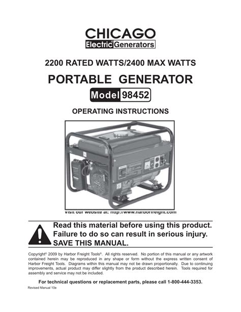 chicago electric generator wiring diagram generator