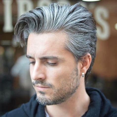 salt pepper hair look for men 40 superb comb over hairstyles for men