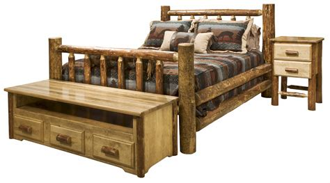 log bedroom sets glacier country log bedroom set montana woodworks 174 amish