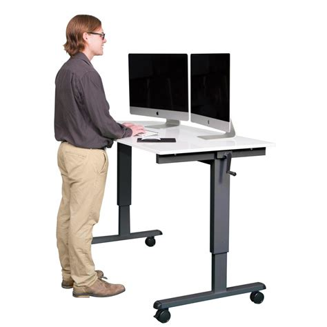 realspace magellan pneumatic stand up height adjustable desk espresso realspace magellan pneumatic stand up height adjustable
