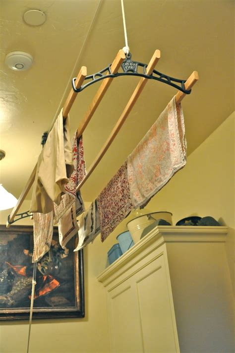 Ceiling Hanging Clothes Drying Rack by Pin By Susan Bivaletz On Wanna Do Go