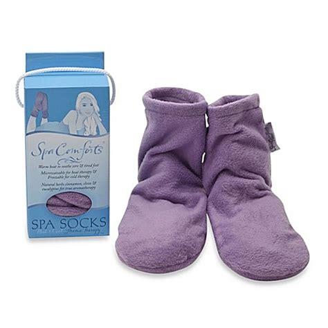 spa comforts spa comforts spa socks in lavender bed bath beyond