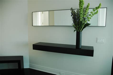 floating shelf for entry wall modern display and wall