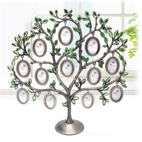 fashion family tree green rhinestone photo frame baby