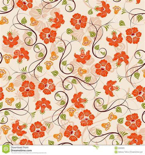 seamless pattern flower flower seamless pattern stock vector illustration of