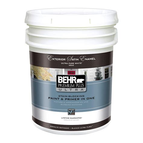 5 gallon exterior paint prices behr premium plus ultra 5 gal ultra white satin