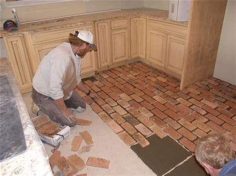 best 25 brick floor kitchen ideas on brick