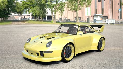 rwb porsche yellow porsche 911 rwb porsche car detail assetto