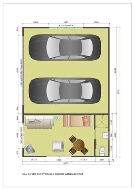 Floor Plans For Small Businesses garage with sleepout single double amp large kitsets ideal