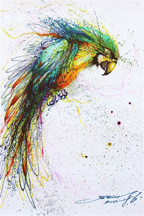 splattered ink animal paintings  chinese artist hua tunan