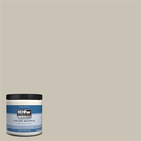 behr premium plus ultra 8 oz ppu5 8 sculptor clay interior exterior satin enamel paint sle