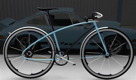 design mockup español porsche 911 bicycle