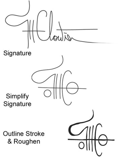 How To Make Your Own Signature On Paper - illustrator how to creating your own chop creativepro