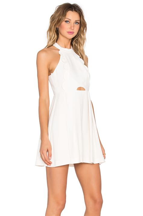 Mini Dress White Nerima lyst bcbgeneration halter mini dress in white