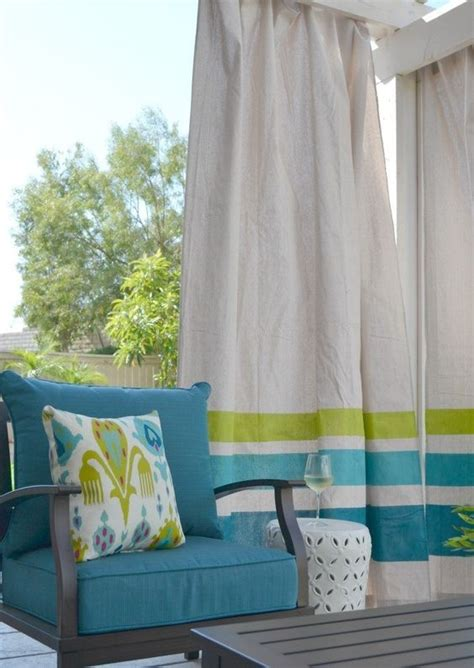 diy canvas drop cloth curtains diy these easy drop cloth outdoor curtains for under 50