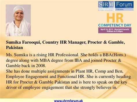 Mba Hr Subjects In Pakistan by Hr Competency Day April 16 2015 Karachi