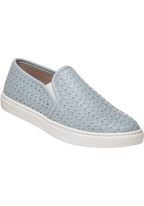 slip on sneakers for steve madden excel slip on sneakers in blue for lyst