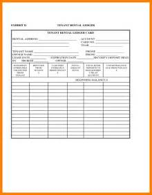 6  rental ledger template   park attendant