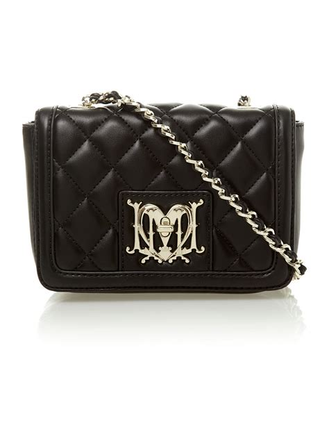 Moschino Quilted Crossbody Bag by Moschino Quilted Mini Crossbody Bag In Black Lyst