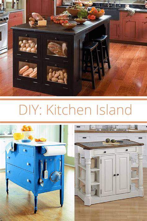 making your own kitchen island diy kitchen island kitchens house and diy kitchen island