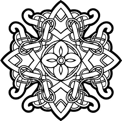 cross mandala coloring pages celtic designs celtic intricately woven emblem vinyl
