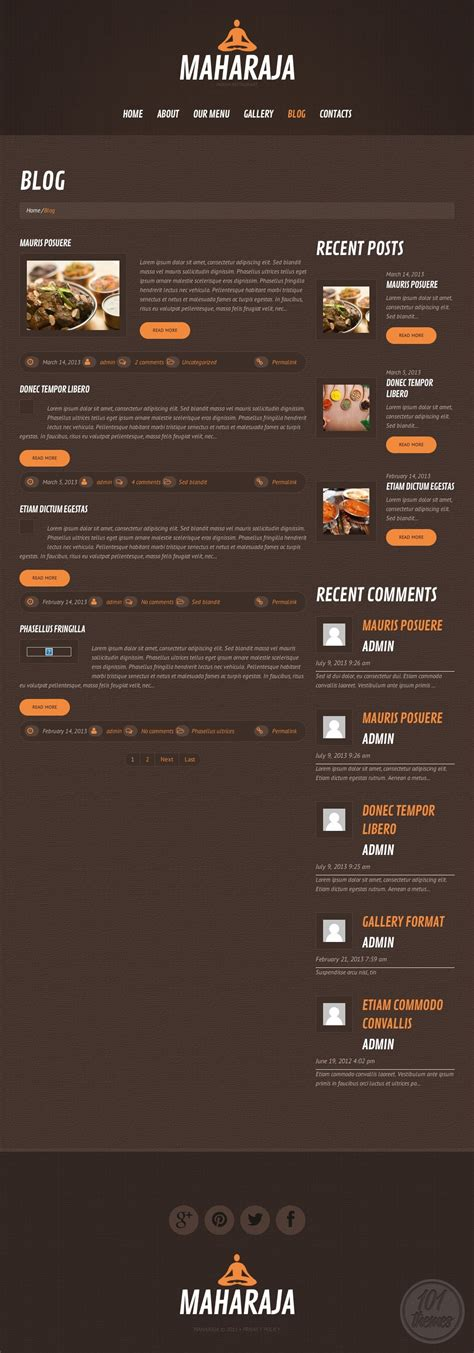maharaja a responsive wordpress theme for indian restaurants